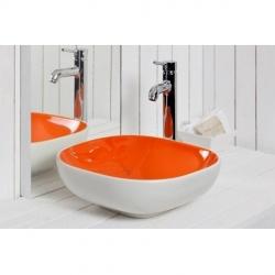 کاسه روشویی مدل ALYA سفید نارنجی- برند SMANNI ترکیه