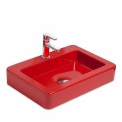 کاسه روشویی قرمز شیرخور مدل SKAT BD برند SMANNI ساخت ترکیه
